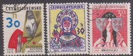 Czechoslovakia Scott 1947-1949 1974 Anniversaries, Used - Czechoslovakia