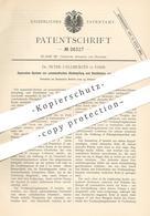 Original Patent - Dr. Peter Calliburcès , Paris , Frankreich   Pneumatische Abdampfung U. Destillation Von Flüssigkeit - Historische Dokumente