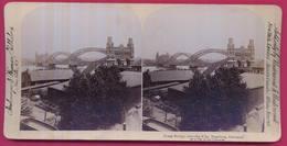 ALLEMAGNE 003 - Grand Pont Sur L'Elbe, HAMBOURG - Stereoscopio