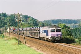 La Creuse (70 - France) 4 Septembre 2004 - La CC 72190 En Tête Du Train  53268/9 Achères/Mulhouse Nord - France