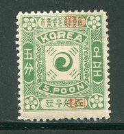 COREE- Y&T N°10- Neuf Avec Charnière * (belle Cote!!!) - Corée (...-1945)