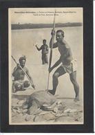 CPA Nouvelles Hébrides Non Circulé VANUATU Type Ethnic Pêche Tortue Turtle - Vanuatu