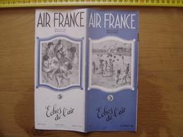 Juillet 1938 Dépliant 7 Echos De L' AIR FRANCE Avion Plane AVIATION Cote Basque - Aviation Commerciale