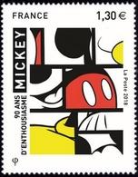 """90e Anniversaire De Mickey. Mickey à La Façon De Piet Mondrian Par Felix Sikora, Gagnant Du Concours """"Mickey Is Art"""". - Ungebraucht"""