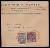 BARRANQUILLA - COLOMBIA - SCADTA / 1925 LETTRE PAR AVION POUR BOGOTA (ref LE3164) - Colombie