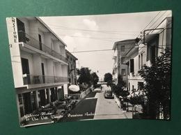 Cartolina Gabicce Mare - Via Vitt. Veneto - Pensione Ambra - 1956 - Rimini