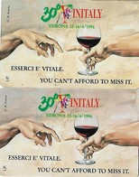 NUOVE-(Mint)--481/PRP 288-TELECOM ITALIA COPPIA VINITALY- L.2.000/10.000-2 SCHEDE - Public Practical Advertising