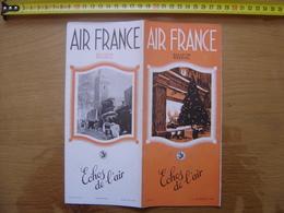 Dec 1938 Dépliant 12 Echos De L' AIR FRANCE Avion Plane AVIATION Noel Maroc Londres - Kommerzielle Luftfahrt