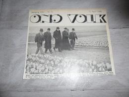 """Origineel Knipsel ( 1632 ) Uit Tijdschrift """" Ons Volk """"  1936  :   Santvliet  Zandvliet Baron De Kerckhove D' Exaerde - Vieux Papiers"""