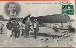 66 Venu à Perpignan 1911 Aviateur Brindejonc Des Moulinais à La Llabanere Carte Entre Soldats 53 RI Echene & Ortaffa - Perpignan