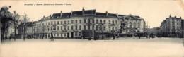 Bruxelles - Carte Double - L' Avenue Marnix Et La Chaussée D' Ixelles - Lanen, Boulevards