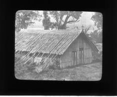 199-25-26 - OCEANIE - ILES SALOMON - Première Eglise à HOROMURA - - Plaques De Verre