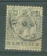 St Lucia: 1912/21   KGV   SG80    2d   Grey    Used - St.Lucia (...-1978)