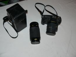 Canon T 80 , 35X70 + Vivitar Série1 Macro 1:25 Dans Coffret. - Appareils Photo
