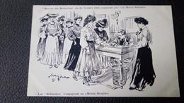 """LES FEMMES : Marche Des Midinettes, Du 25 Octobre 1903, Organisée Par Le Monde Sportif, Illustré Par Méria """"s'engageant"""" - Künstlerkarten"""