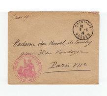 Sur Enveloppe Cachet Groupement Des Cies Des Travailleurs Russes. Le Colonel Commandant. CAD St Die 1919. (1074x) - Guerre De 1914-18