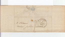 Sur Pli AC CAD Vesoul 1837. Taxe Manuscrite. CAD Destination Sauve Gard. (1075x) - 1801-1848: Précurseurs XIX