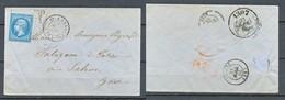 TIMBRE - FRANCE - Marcophilie -1865 - Voir Photo - 1849-1876: Période Classique