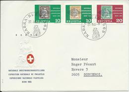 429, WIII 43, NABRA, Bern 1965 + Découpe Du Bloc, Exposition Nationale, Obl. NABRA 27.8.65 - Suisse