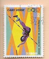TIMBRES- STAMPS- CAP VERT / CAPE VERDE -1992- JEUX OLYMPIQUES DE BARCELONA - TIMBRE OBLITÉRÉ AVEC DIFFÉRENCE DE COULEUR - Cap Vert
