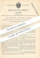 Original Patent - Moritz Honigmann , Grevenberg / Aachen , 1881 , Dampfwasserheber Mit Injektor Für Kondensation   Pumpe - Historische Dokumente