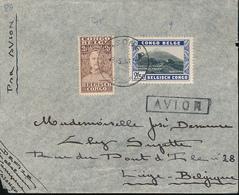 BELGIAN CONGO AIR COVER FROM KASONGO 03.05.38 TO LIEGE - Congo Belge