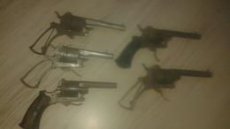 Lot De 5 Revolver A Broches - Armes Neutralisées