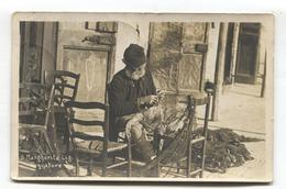 Santa Margherita Ligure - Pescatore - Fisherman Mending Net - 1925 Used Real Photo Postcard - Genova (Genoa)