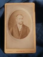 Photo CDV  Beuscher Au Havre  Portrait Homme Barbu élégant  CA 1885 - L416A - Oud (voor 1900)