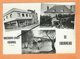 CPSM Grand Format - Bourbon Lancy Thermal  -(S.-&-L.) - Le Fourneau  -( Multivie , Multivues ) - Autres Communes