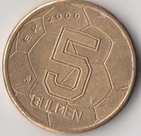 @Y@  Nederland   5 Gulden 2000 Voetbal Vijfje AUNC  (4740) - [ 3] 1815-… : Kingdom Of The Netherlands