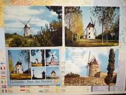 14 Cartes De Moulins à Vent En France Et Aux Pays Bas - Moulins à Vent
