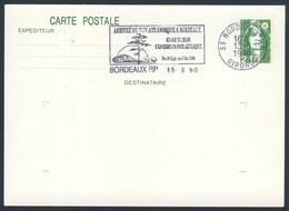 France Rep. Française 1990 Card / Karte / Carte - Arrivee TGV Atlantique, Bordeaux / Hochgeschwindigkeitszug - Treinen