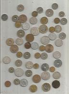 Vrac Monnaies , FRANCE , LOT DE PLUS DE 50 PIECES FRANCAISES - Monnaies & Billets