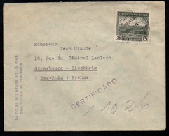 VALPARAISO - CHILE - CHILI / 1952 - LETTRE RECOMMANDEE POUR LA FRANCE (ref LE3167) - Chili