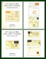 Catalogue 47éme + 48éme Vente Sur Offres Roumet 2015 + 2016 Histoire Postale Et Autographes - Catalogues De Maisons De Vente
