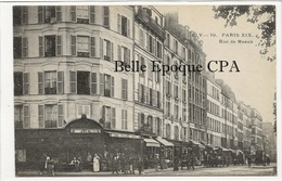 75 - PARIS 19 -- #10 -- Rue De Meaux +++ E. V. / EV +++ 1906 - Arrondissement: 19