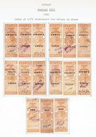 CEYLON...early Queen Victoria REVENUES...1891 Overprints...3-part - Ceylan (...-1947)