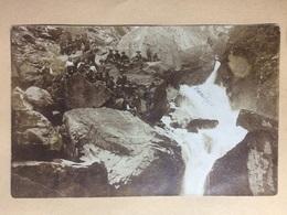 SWITZERLAND - 1913 Postcard - Wiedlisbach To Peney Le Jorat - Tourists At A Waterfall Scene - BE Berne