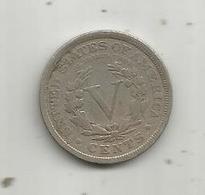 Monnaie , ETATS UNIS ,  V Cents , 5 , 1908 , Indian Head , Diamètre 26 Mm , 2 Scans - Federal Issues