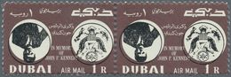 Dubai: 1964, Kennedy (Mi. # 113/115 And S/s # 22), Collection With Varieties, Inverted Centers, Miss - Dubai