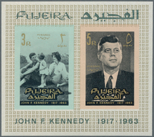 Fudschaira / Fujeira: 1964/1969, Lot Of 9166 IMPERFORATE (instead Of Perforate) Stamps MNH, Showing - Fudschaira