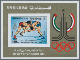 Irak: 1975/1983. Lot Of 18,247 IMPERFORATE Stamps, Souvenir And Miniature Sheets Showing Various Int - Irak