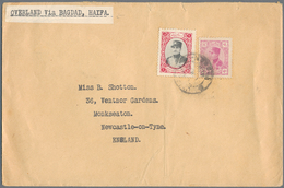 """Iran: 1887/1960 (ca.), Covers (15) And Mint/used Stationery (11) Plus An FDC, Inc. Cover """"OVERLAND V - Iran"""