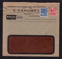 """ Champagne MERCIER "" / Enveloppe Commerciale Illustrée / EPERNAY 1929 - Postmark Collection (Covers)"