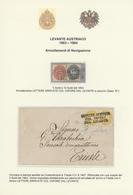 Österreichische Post In Der Levante: 1863-1884: Spezialsammlung Der Entwertungen Und Poststempel Der - Levante-Marken