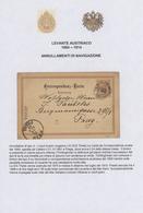 """Österreichische Post In Der Levante: 1883-1914 """"Schiffspoststempel Des österreichischen Lloyd In Der - Levante-Marken"""