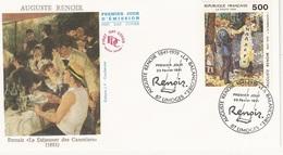 FDC  France Env. 1er Jour - Auguste Renoir - 87 Limoges 23.02.1991 - Timbre 2692 - 1990-1999