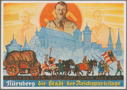 Ansichtskarten: Propaganda: 1939/1945: Bestand Von 164 Propagandakarten, Meist Bessere Motive, In üb - Partis Politiques & élections