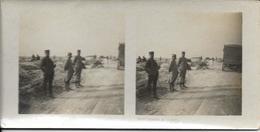Carte Stéréoscopique, Plaine De Souain, Guerre 1914-18 - Estereoscópicas